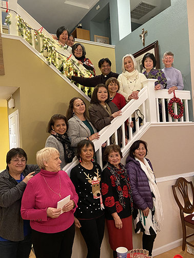 Office Volunteers at Christmas party